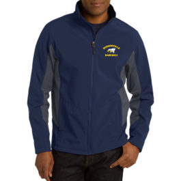 Port Authority® Core Colorblock Soft Shell Jacket – Navy/Grey