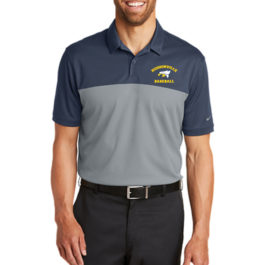Nike Dri-FIT Colorblock Micro Pique Polo – Navy/Cool Grey
