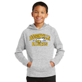 Youth PosiCharge Electric Heather Fleece Hooded Pullover