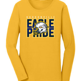 Football Pride Gold Ladies Heavy Blend Cotton Long Sleeve T-Shirt