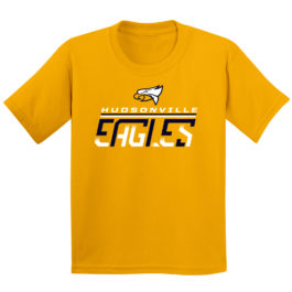 Eagles Fade Gold Youth Heavy Blend Cotton T-Shirt