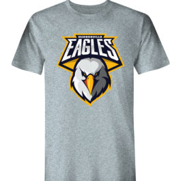 Eagle Face Grey Heavy Blend Cotton T-Shirt