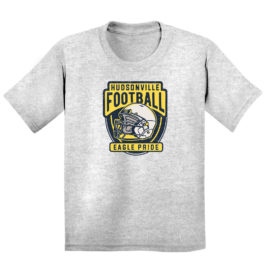 Hudsonville Football Grey Youth Heavy Blend Cotton T-Shirt