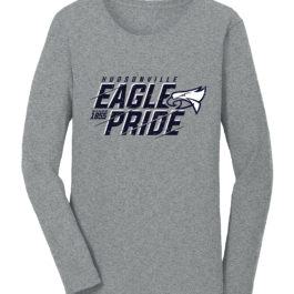 Eagle Pride Grey Ladies Heavy Blend Cotton Long Sleeve T-Shirt