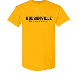 Hudsonville Basketball Short Sleeve Unisex T-Shirt-0012